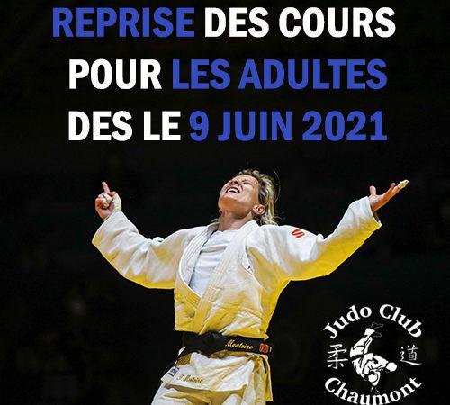 Reprise des cours pour les adultes à partir du 9 juin 2021