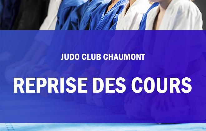 REPRISE DES COURS au Judo Club Chaumont